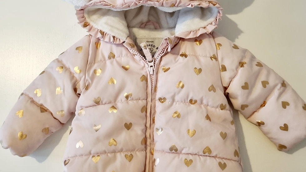 3-6 Month George Thick Coat with hood (Pre-loved)