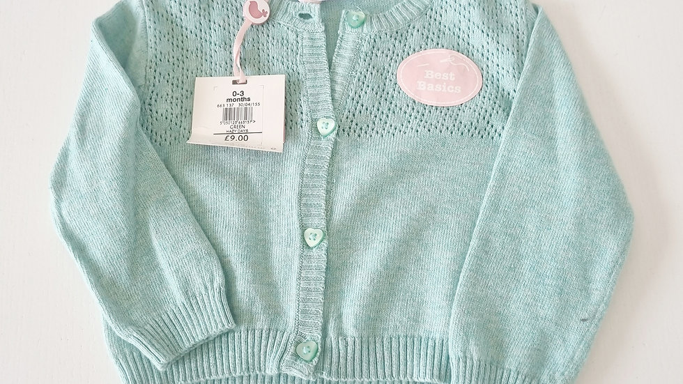 0-3 Month M&Co Cardigan ( New with £9 tags)