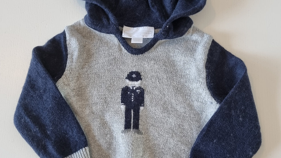 0-3 Month The little white company Jumper with hood ( Pre-loved)