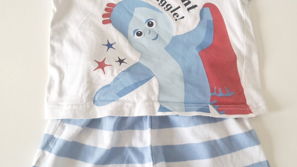 12-18  Month  In the night Garden Shorts PJ's  Set (Pre-loved)