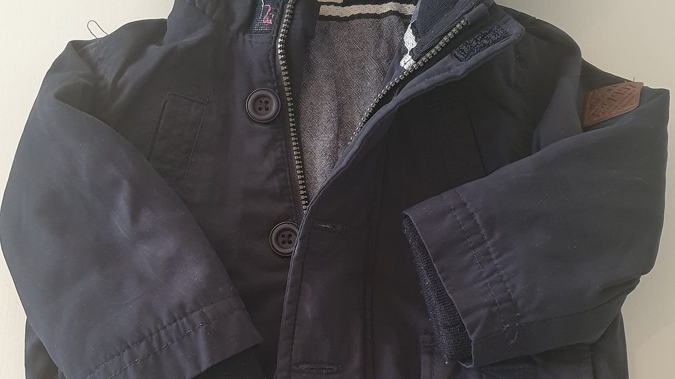 3-6 Month  F&F Navy Coat with hood ( Pre-loved)