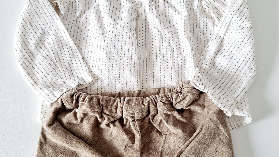 12 Month  Alber Shirt & Velvet shorts ( Pre-loved)