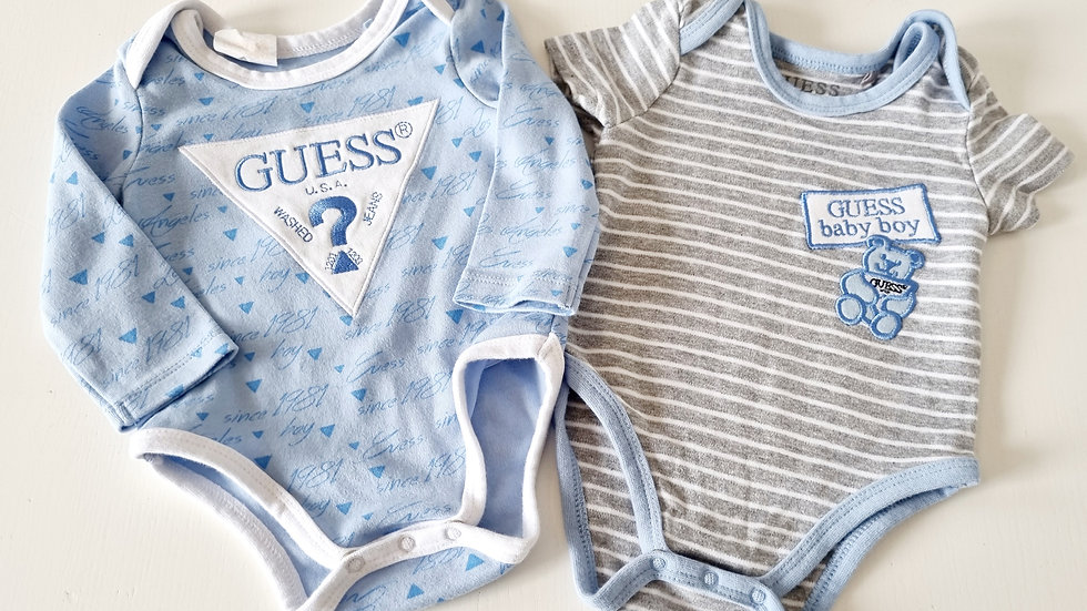 0-3 Month Guess 2 Pack Bodysuits ( Pre-loved)