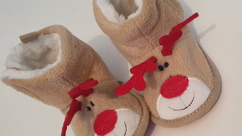 0-6 Month  Primark  Christmas slippers (Pre-loved)
