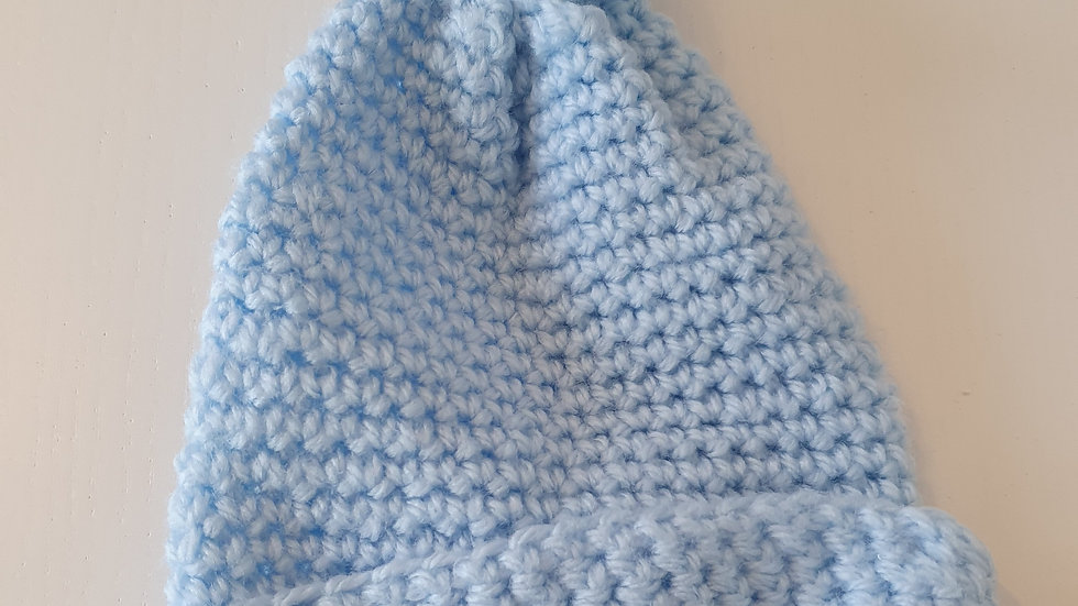 0-3 Month  Knitted  Hat with Pompom (Pre-loved)