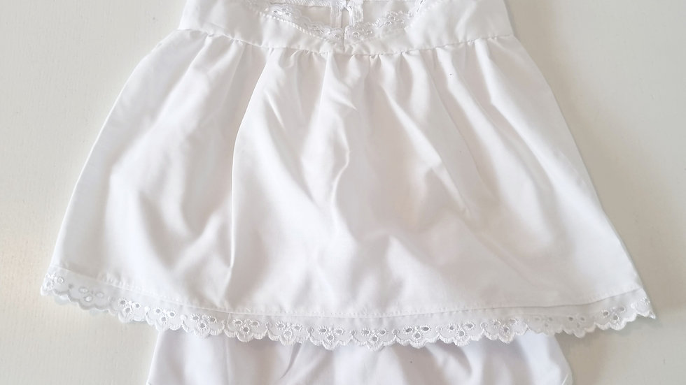 3-6 Month  Hand Made Maids Dress & Hat with knickers (Pre-loved)