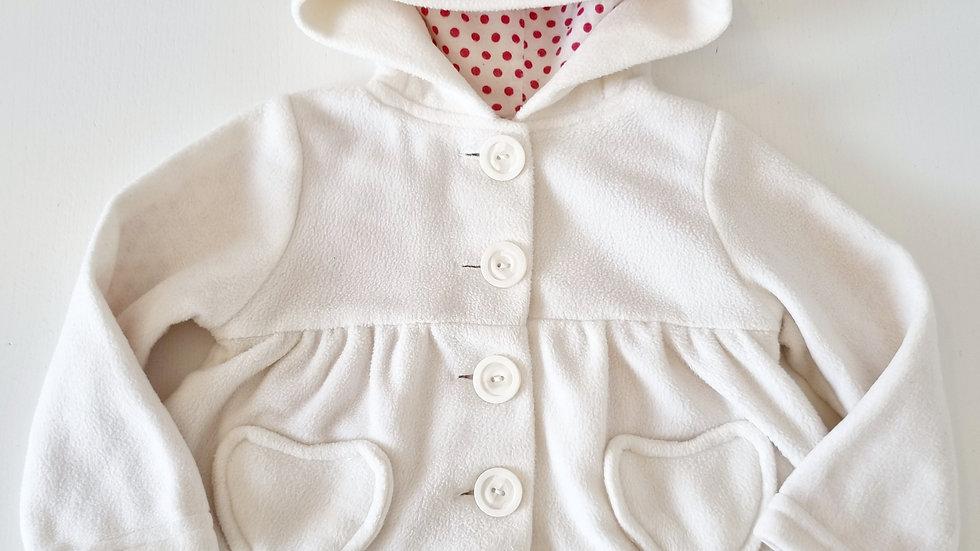 3-6  Month  Primark  Fleece  Coat with Hood (Pre-loved)