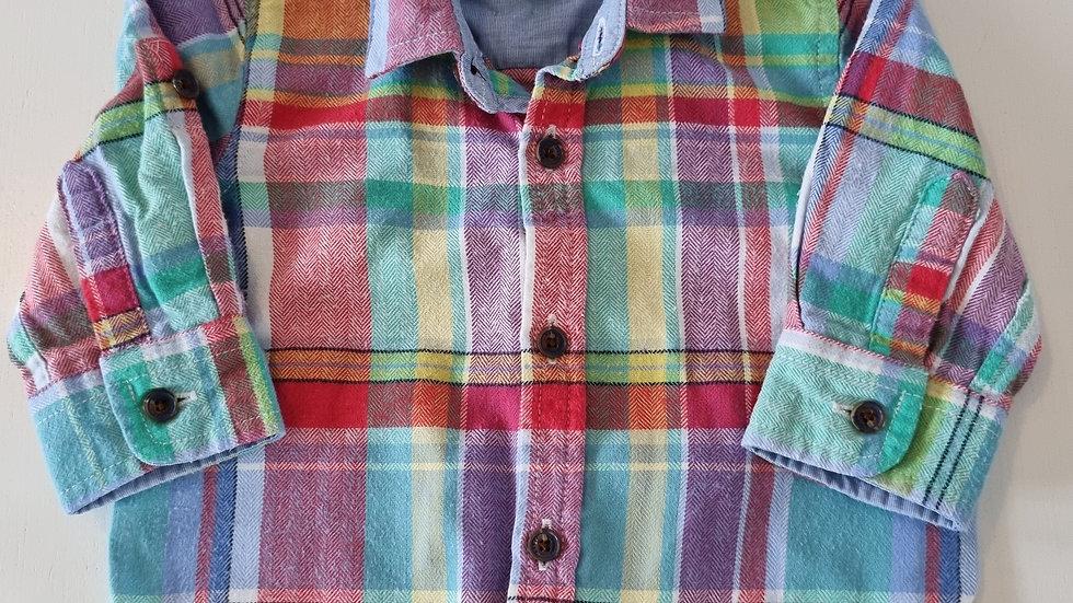 0-3 Month Ted Baker Adjustable sleeve Shirt (Pre-loved)