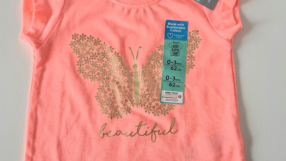 0-3m Primark Tshirt (New with Tags)