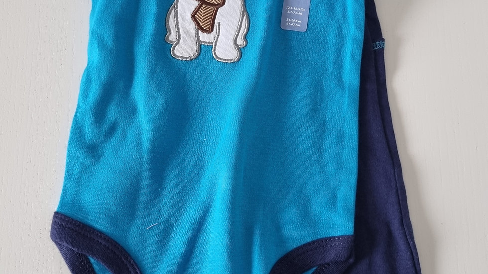 3-6 Month Hudson Baby PJ's Set (New with  tags)