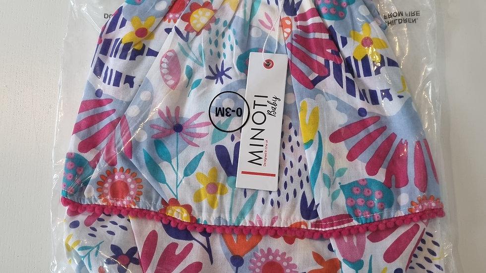0-3m Minoti Dress & Nickers (New with Tags)