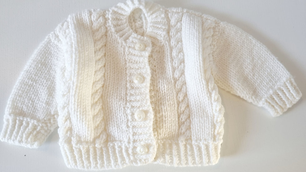 0-3 Month Knitted  Cardigan (Pre-loved)