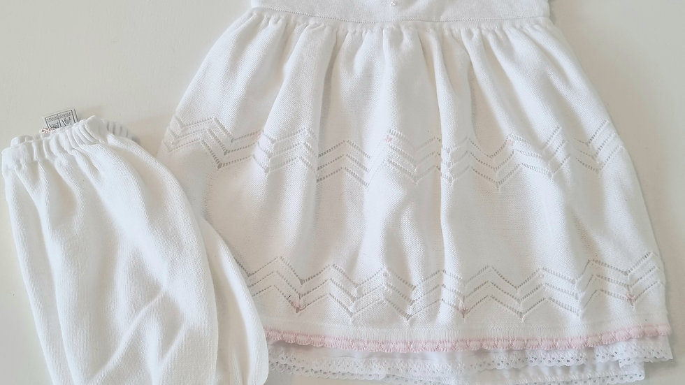18m Pretty Originals Knitted Dress & Bloomers (Preloved)