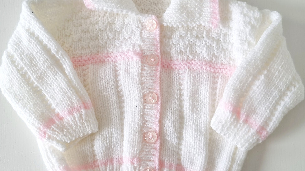 0-6 Month Knitted  Cardigan & Hat (Pre-loved)