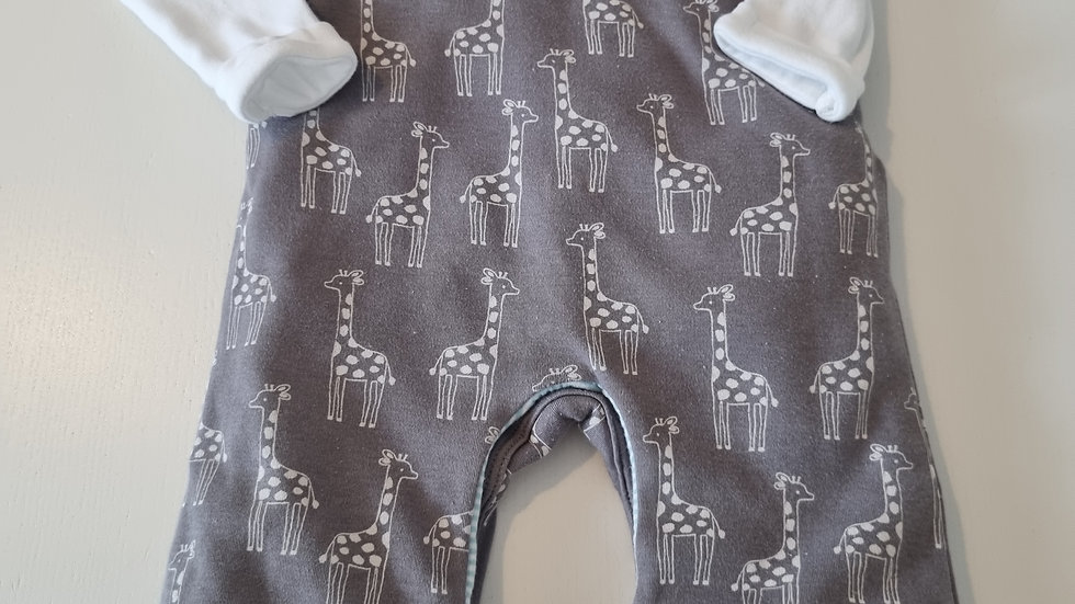 3-6 Month  John Lewis Thick dungarees & Top (Pre-loved)