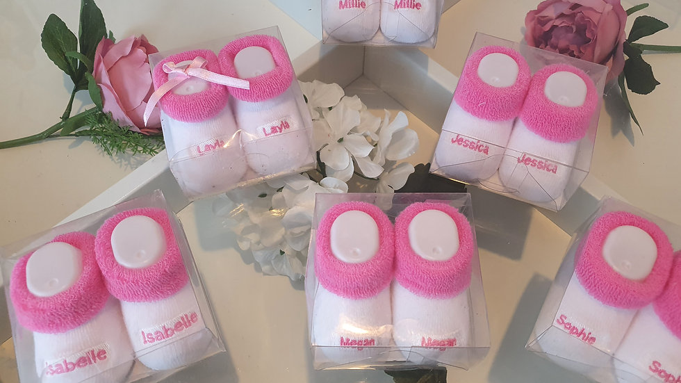0-6m Baby Name Socks All different names available see description
