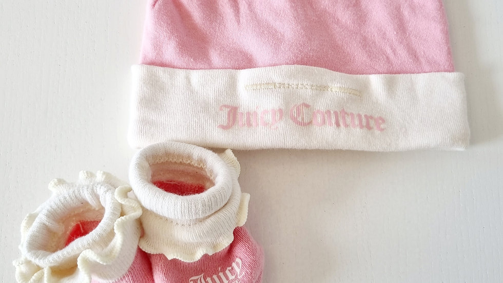 0-3 Month Juicy Couture Hat & Socks ( Pre-loved)