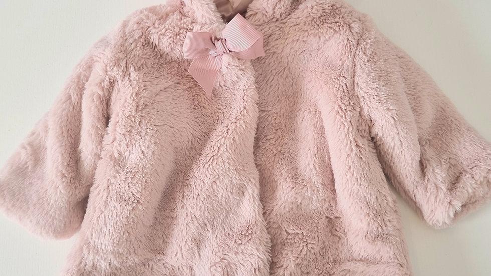 0-3m George Fluffy Coat (Preloved)