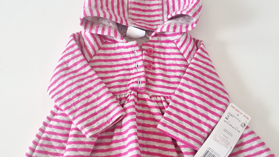 0-3 Month F&F  Dress with Hood( New with £10 tags)
