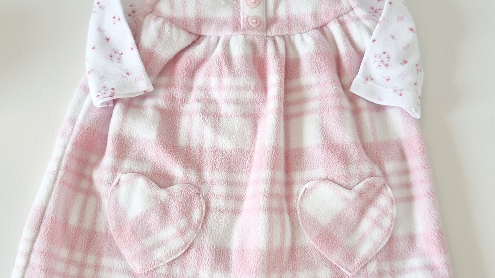 0-3 Month George Fleece Dress & Top (Pre-loved)
