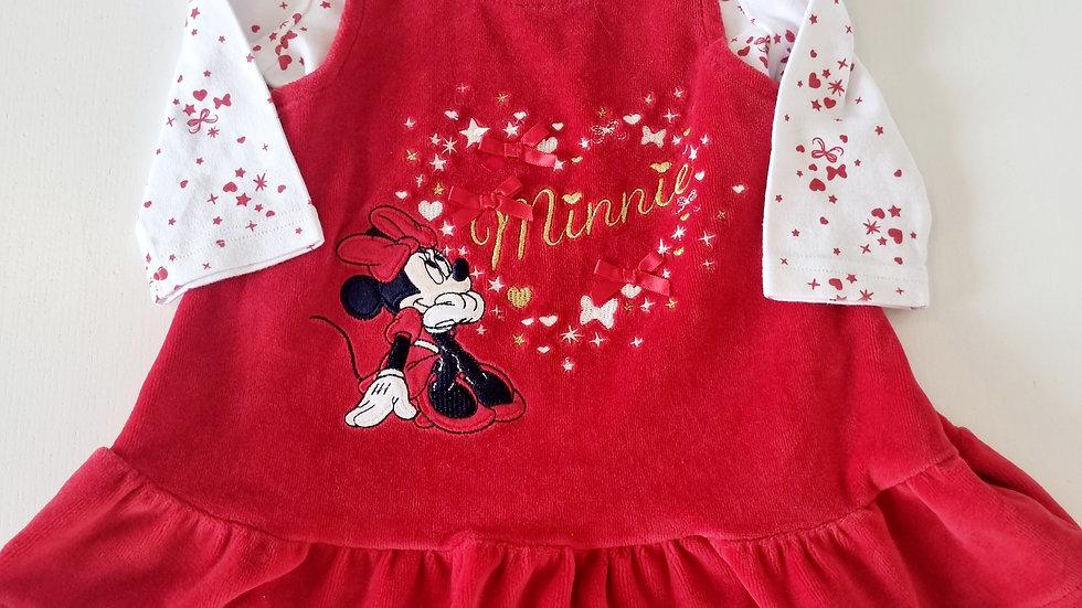 3-6  Month  Disney@George Velvet  Dress & Top (Pre-loved)