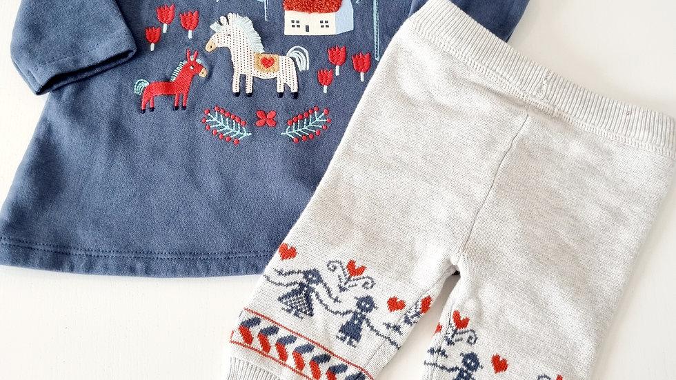 0-3 Month M&S Dress & Leggings ( Pre-loved)