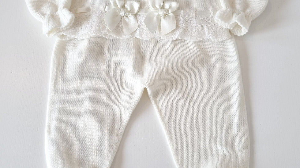 12 Month Sardon Knitted  Outfit (Pre-loved)