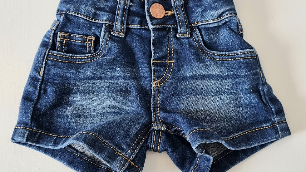 0-3m Baby Girl Denim Shorts (Preloved)
