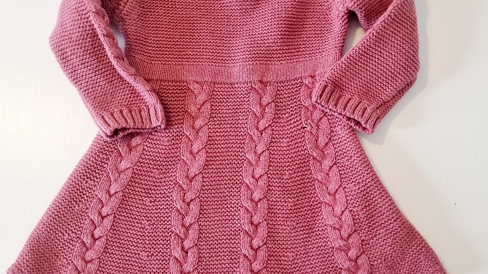 3-6 Month Primark Knitted  Dress (Pre-loved)