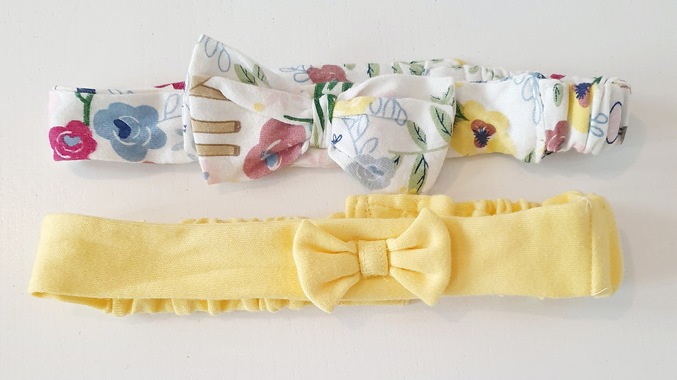 3-6 Month 2 Pack Headbands (Pre-loved)