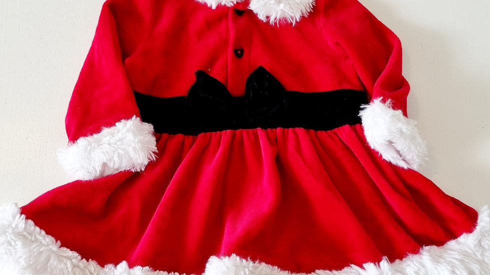 3-6 Month Mothercare Velvet  Xmas Dress ( Pre-loved)