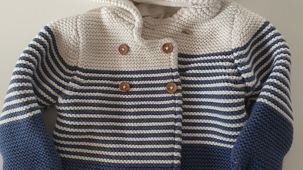 3-6  Month  M&S Hooded Cardigan (Pre-loved)