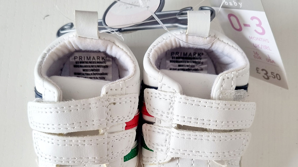 0-3 Month Primark  Shoes ( New with 3.50 tags)