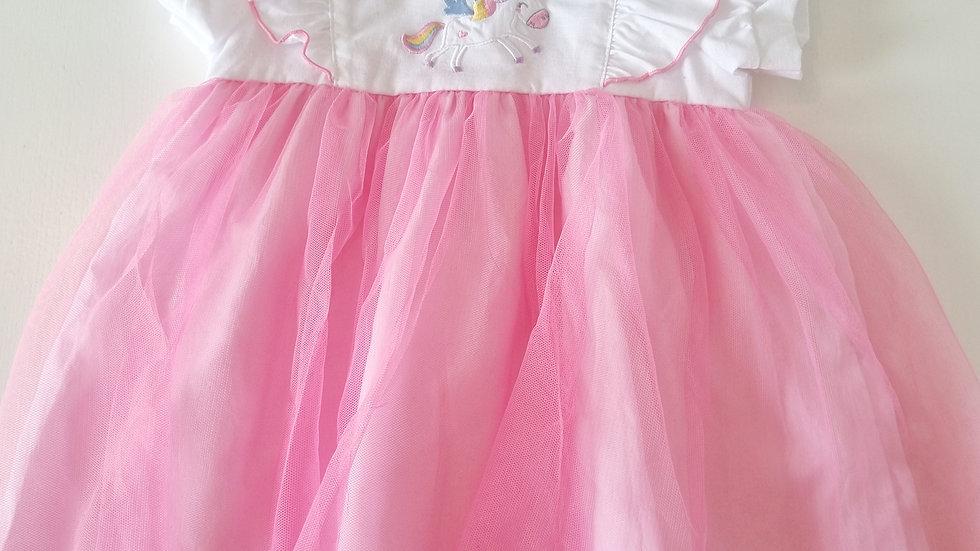 18 Month  Watch Me Grow Tutu Dress ( Pre-loved)