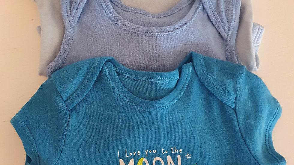 0-3 Month 3 Pack Baby Vests (Pre-loved)