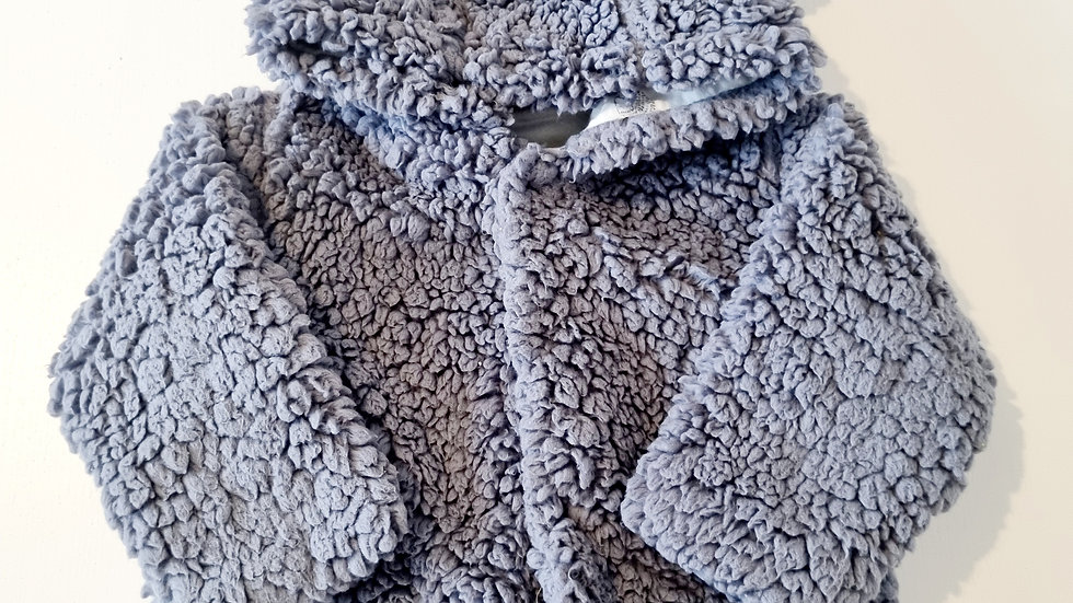 3-6 Month M&S Fleece  Coat with hood (Pre-loved)