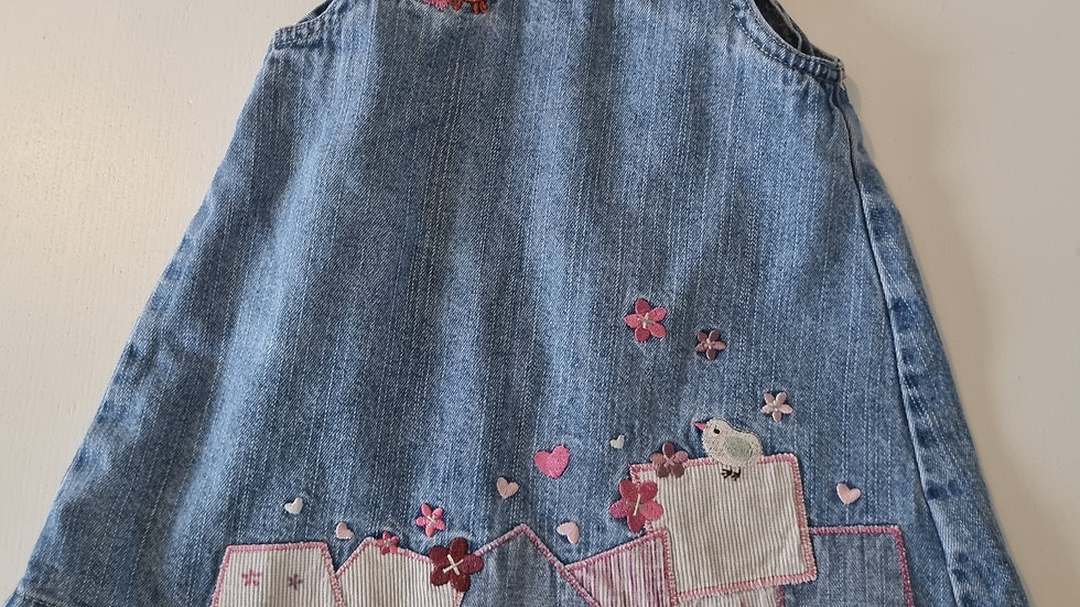 3-6  Month  Mothercare Denim  Dress (Pre-loved)