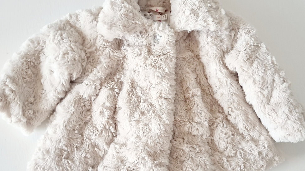 3-6 Month M&Co Fluffy  Coat (Pre-loved)