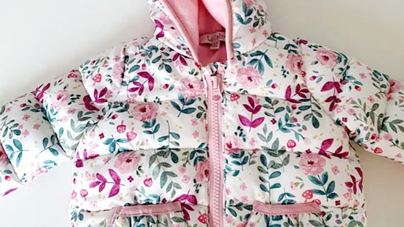 0-3  Month  Lullaby  Thick Coat with hood(Pre-loved)