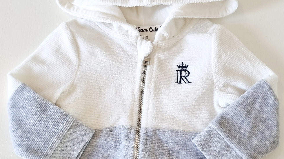 3-6  Month River  Island  Jacket with hood ( Pre-loved)