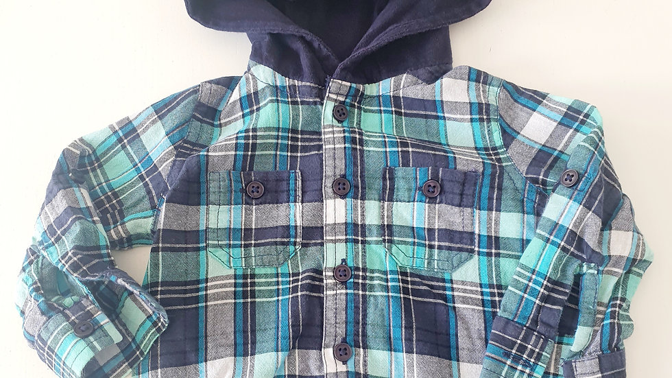 0-3 Month Baby Shirt with hood (Pre-loved)