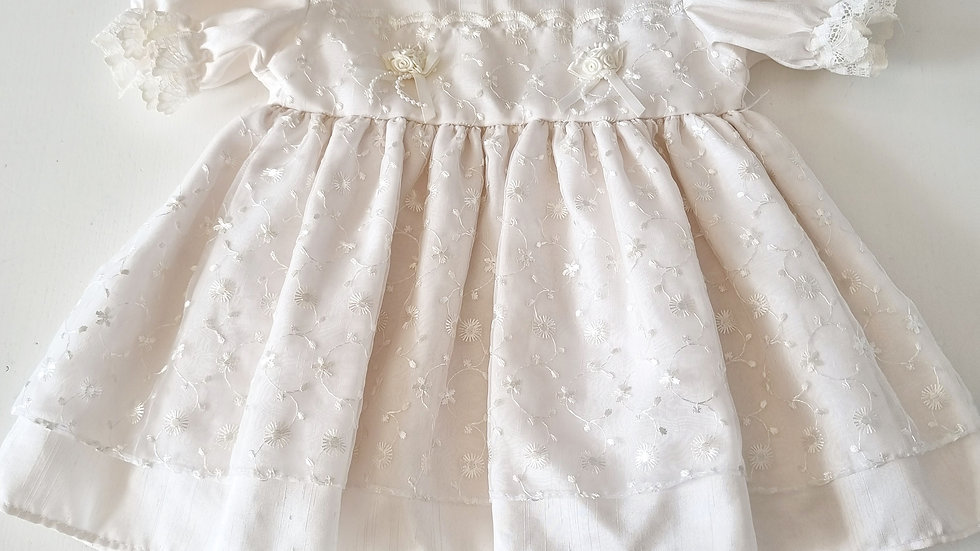 3-6  Month Silk Dress with lace detailing ( Pre-loved)