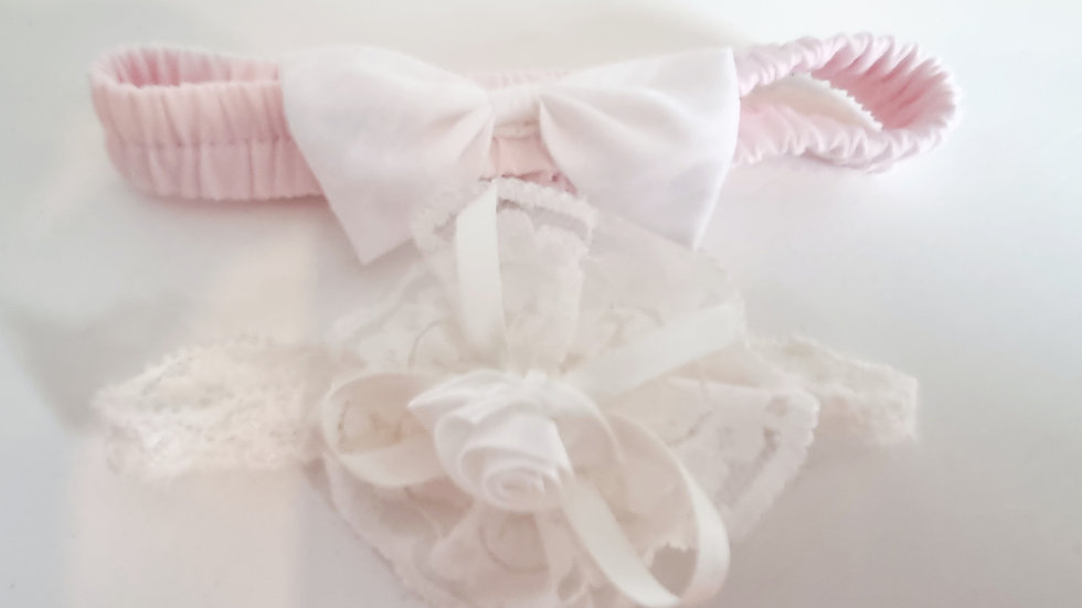 0-3 Month 2 Pack Headbands ( Pre-loved)