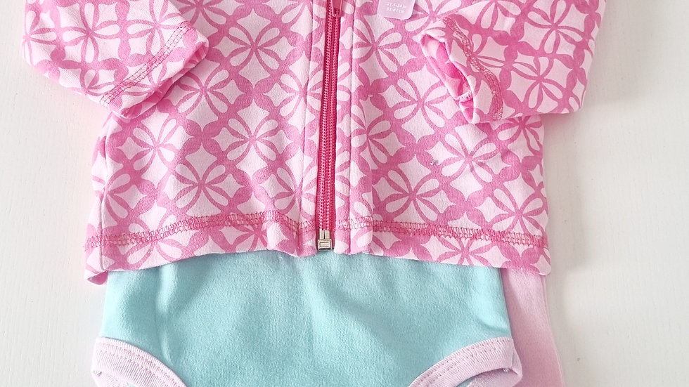 0-3 Month Hudson Baby 3 Piece Jogging suit (New with tags)