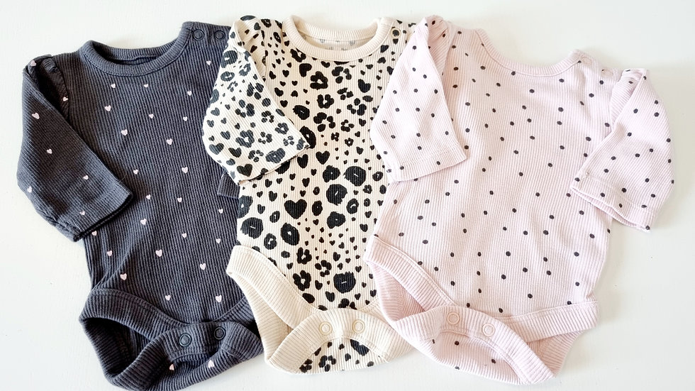 Tiny Baby  George 3 Pack Ribbed Vest Tops (Pre-loved)