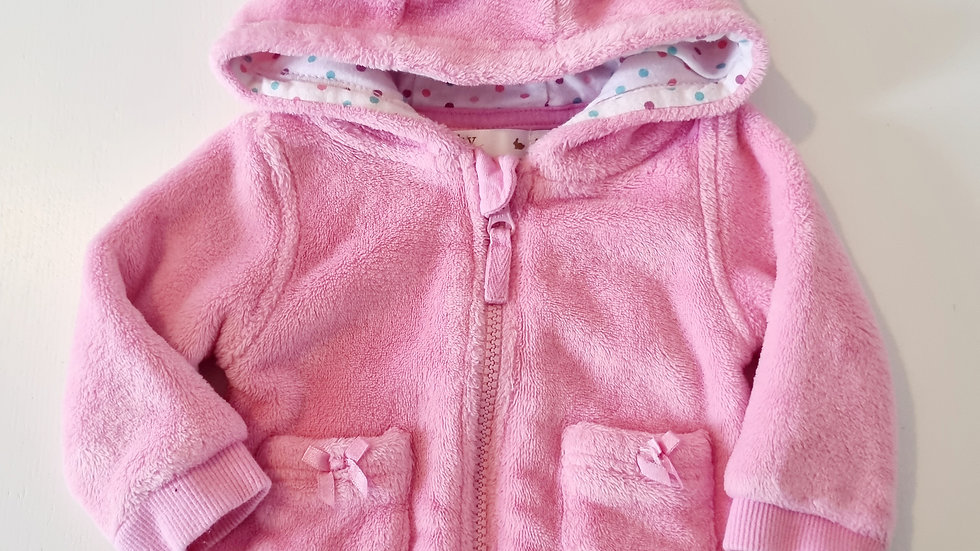 0-3 Month  M&Co  Fleece  Jacket with hood (Pre-loved)