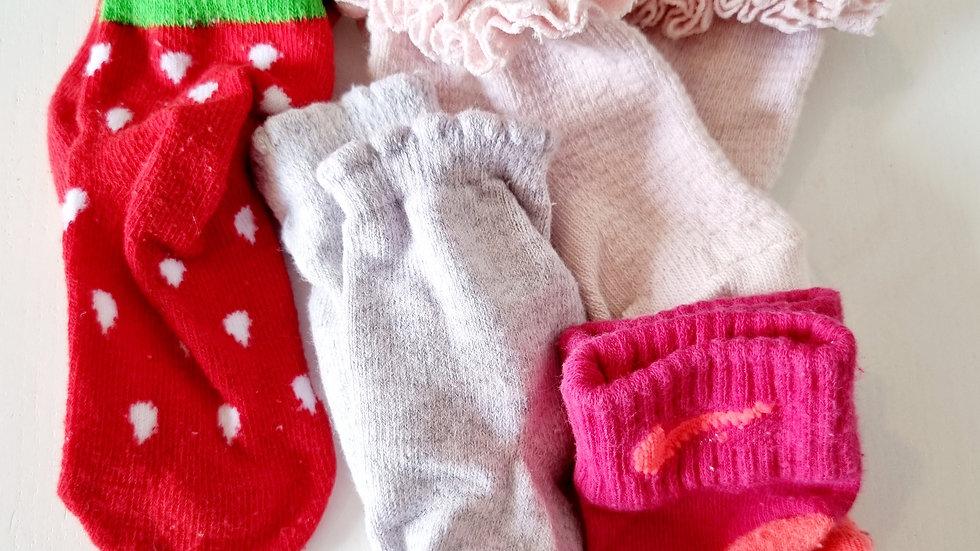 0-3 Month 4 Pack Socks ( Pre-loved)