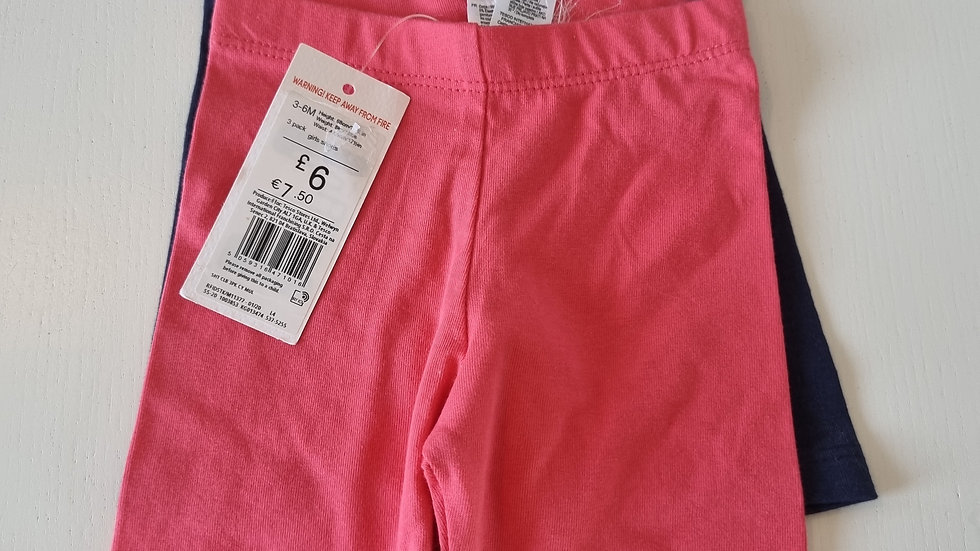 3-6  Month  F&F  2 Pack Shorts  ( New With tags)