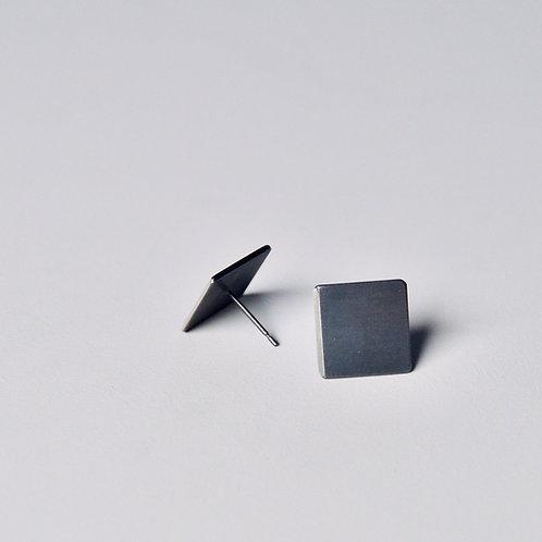 'Inside Out' Plain Square Earrings