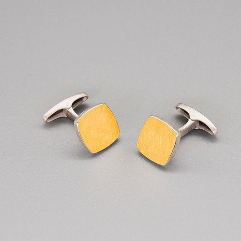 'One on Another' Square Keum-boo Cufflinks